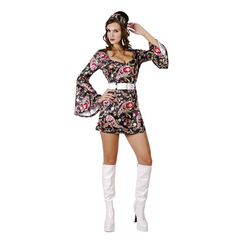 Discoklänning 70-tal Maskeraddräkt - One size