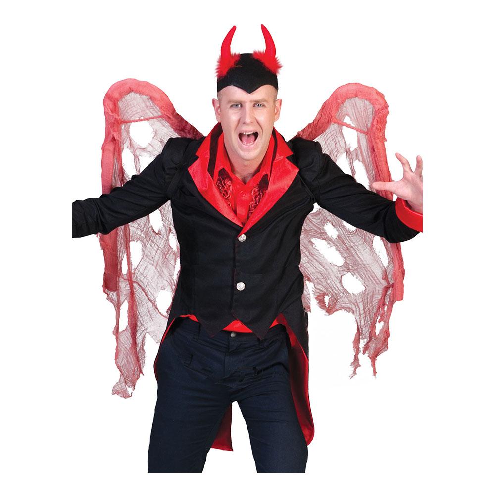 Djävulsvingar Röda Slitna - One size