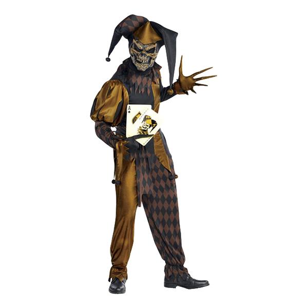 Dödskalle Gycklare Maskeraddräkt - One size