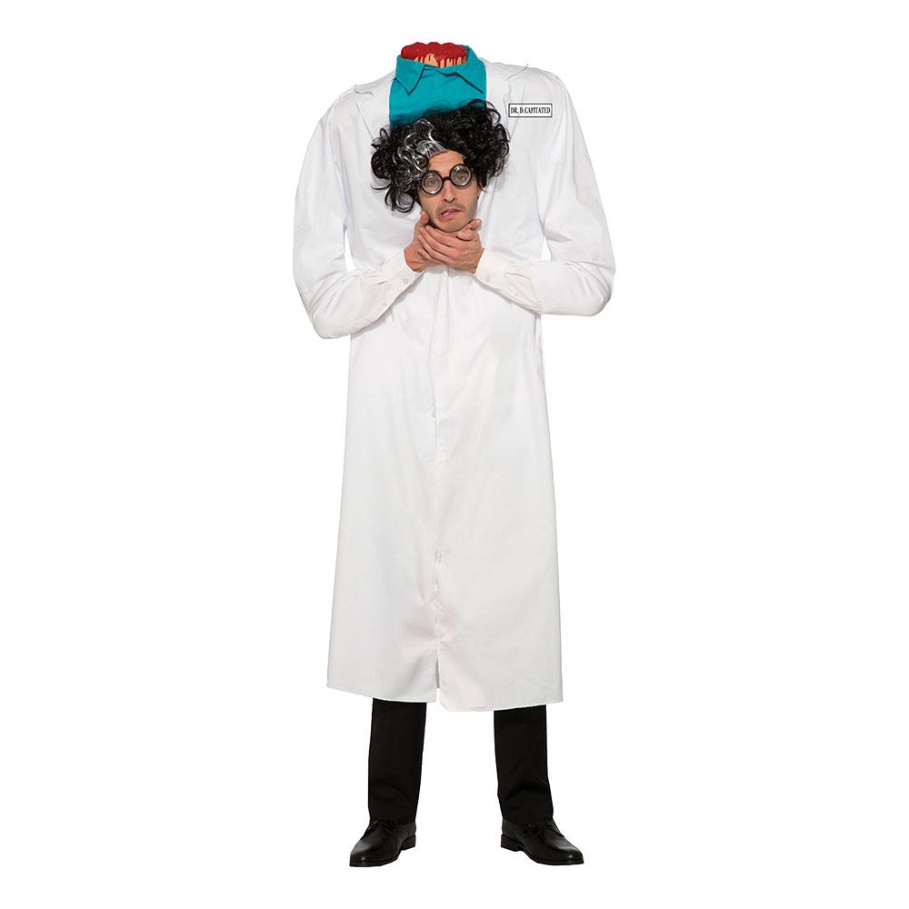Doktor med Avhugget Huvud Maskeraddräkt - One size