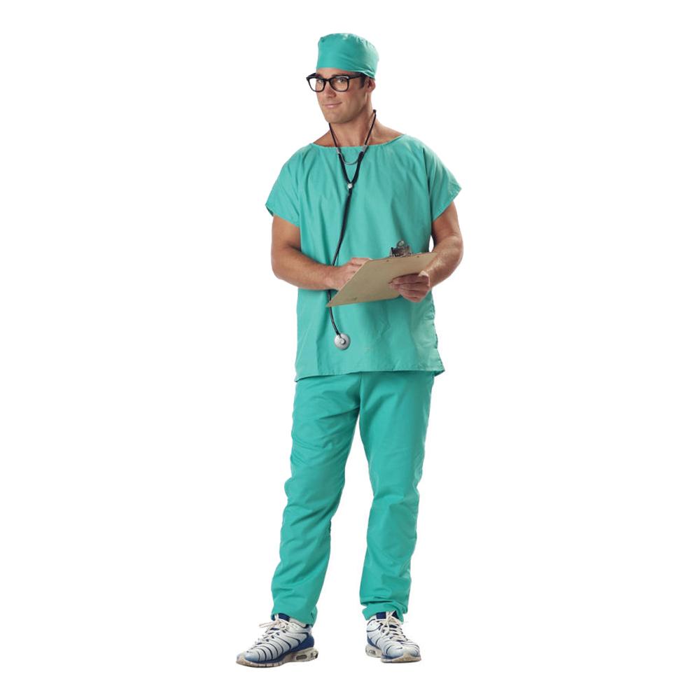 Doktor Scrubs Maskeraddräkt - Small