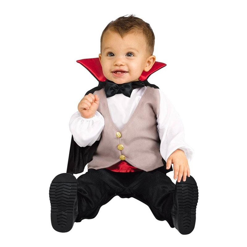 Maskeradkläder Vuxna - Dracula med Mantel Bebis  - One size
