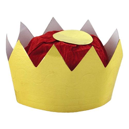 Drottningkrona i Papp Guld - One size