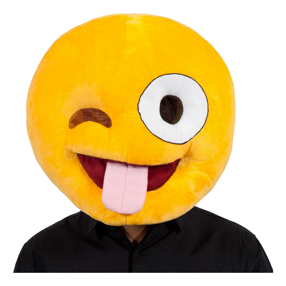 Emoji Crazy Face Mask - One size