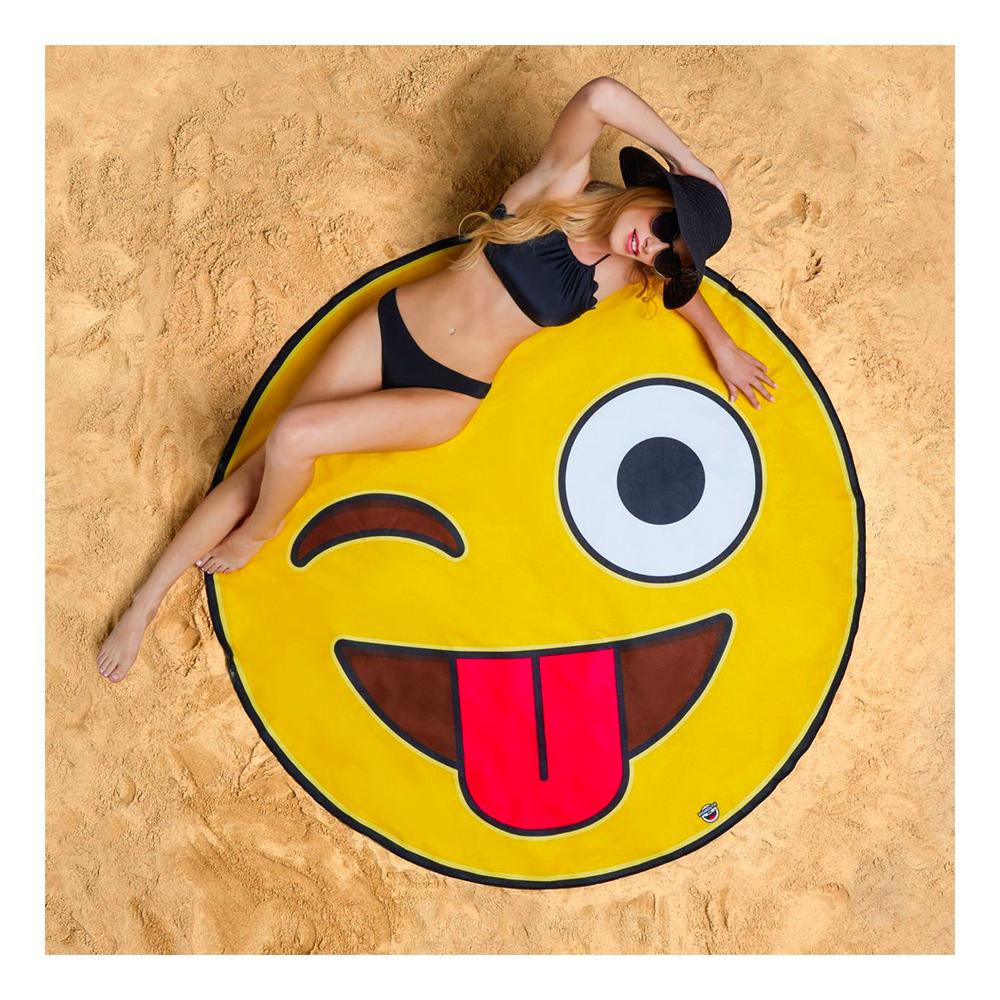 Emoji Gigantisk Strandhandduk