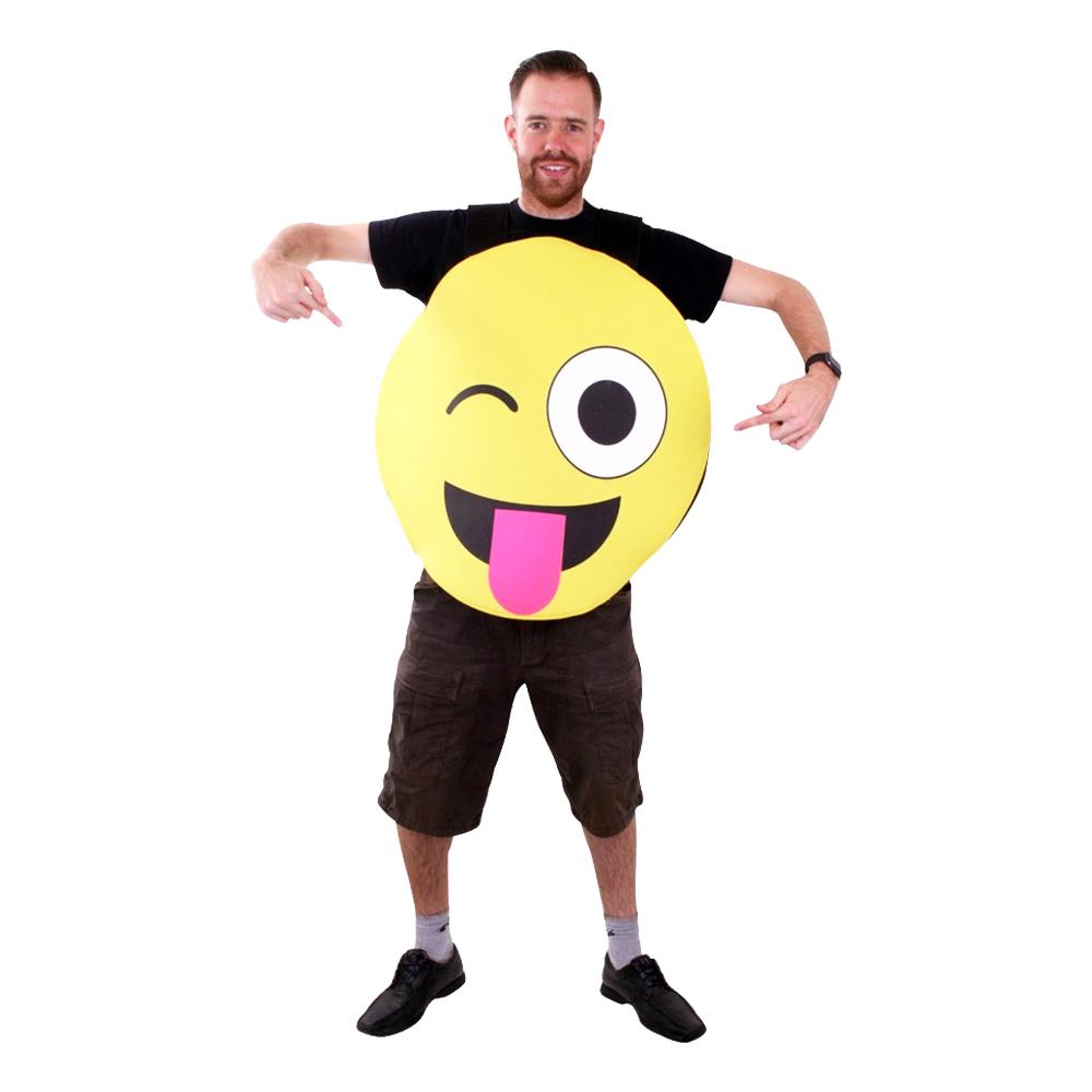 Emoji Stick Out Tongue Maskeraddräkt - One size