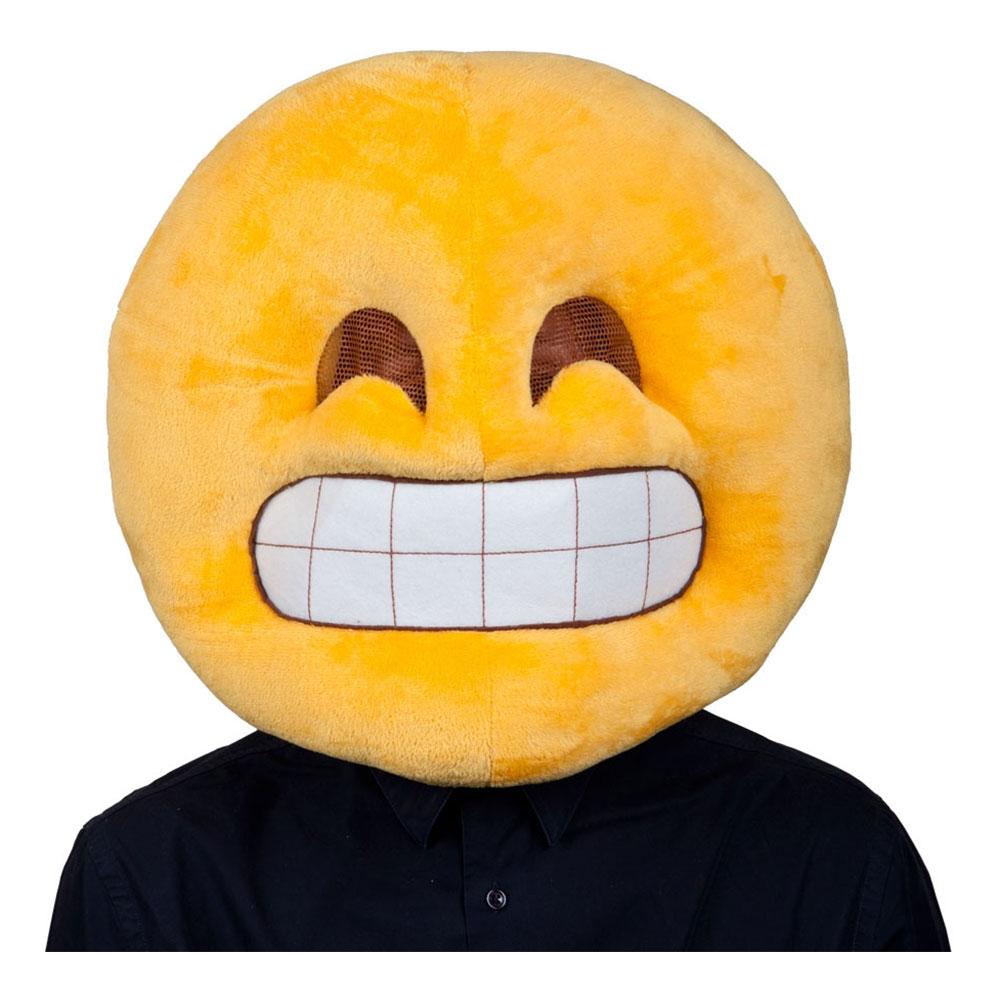 Emoji Grinning Face Mask - One size