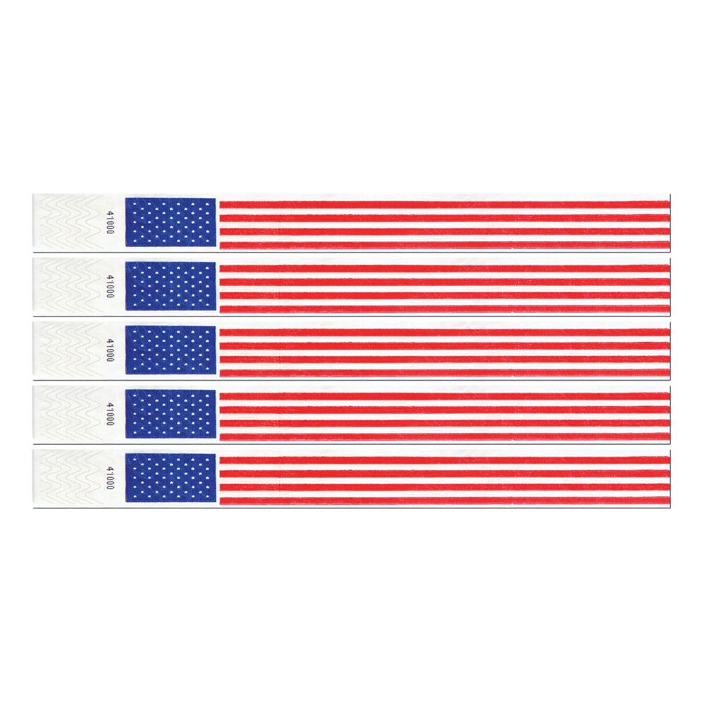 Entréarmband USA - 100-pack