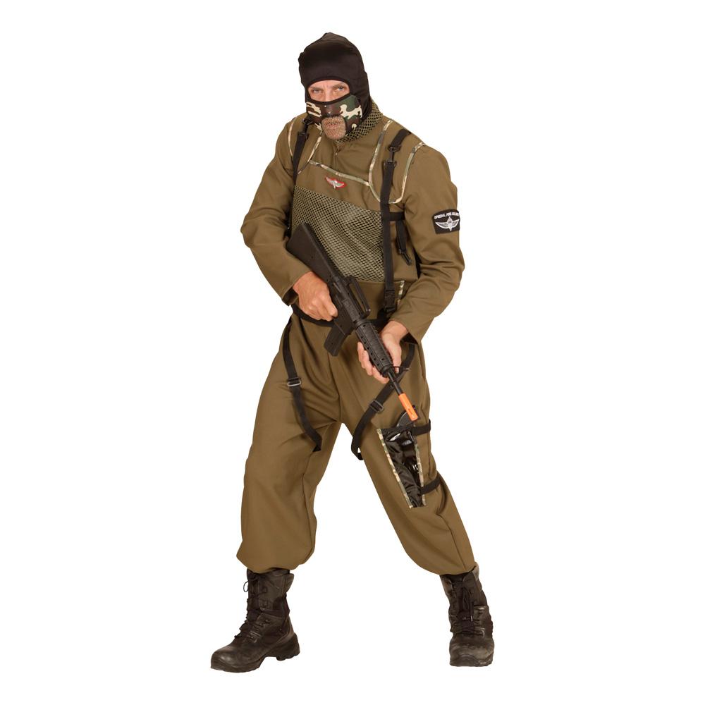 Fallskärmshoppare Soldat Maskeraddräkt - Small