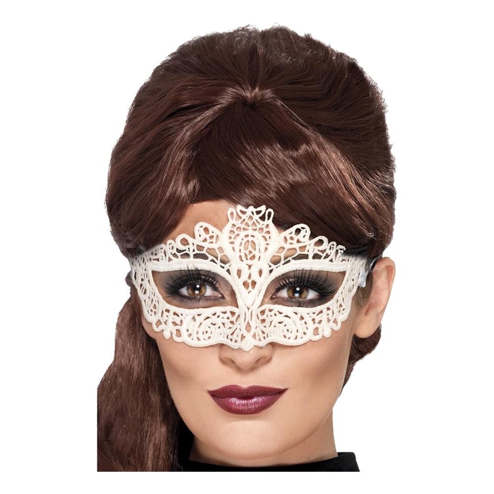 Filigree Vit Spets Ögonmask - One size