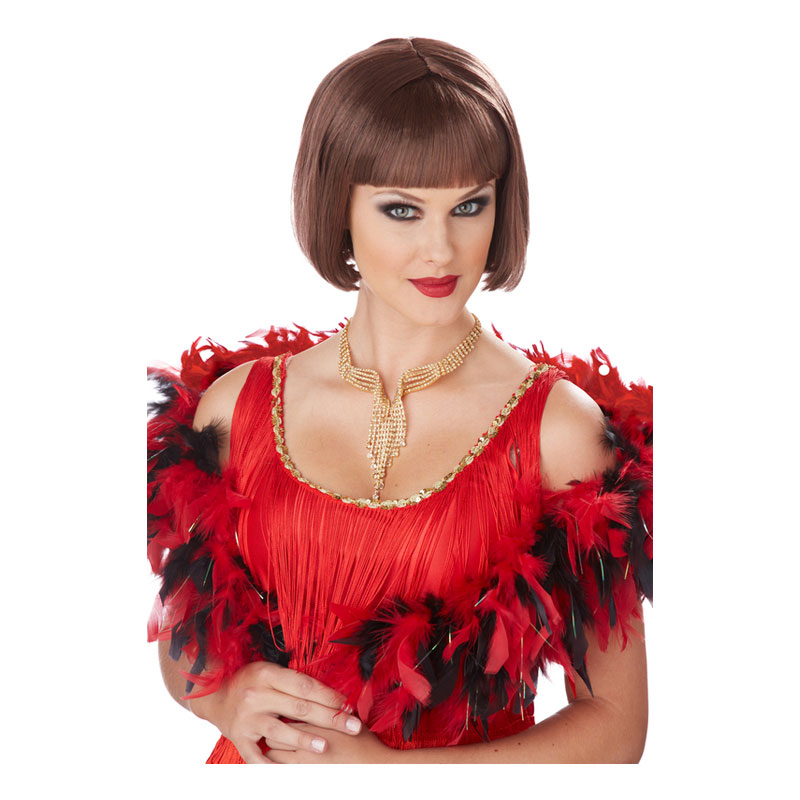 Flapper Brun Peruk - One size