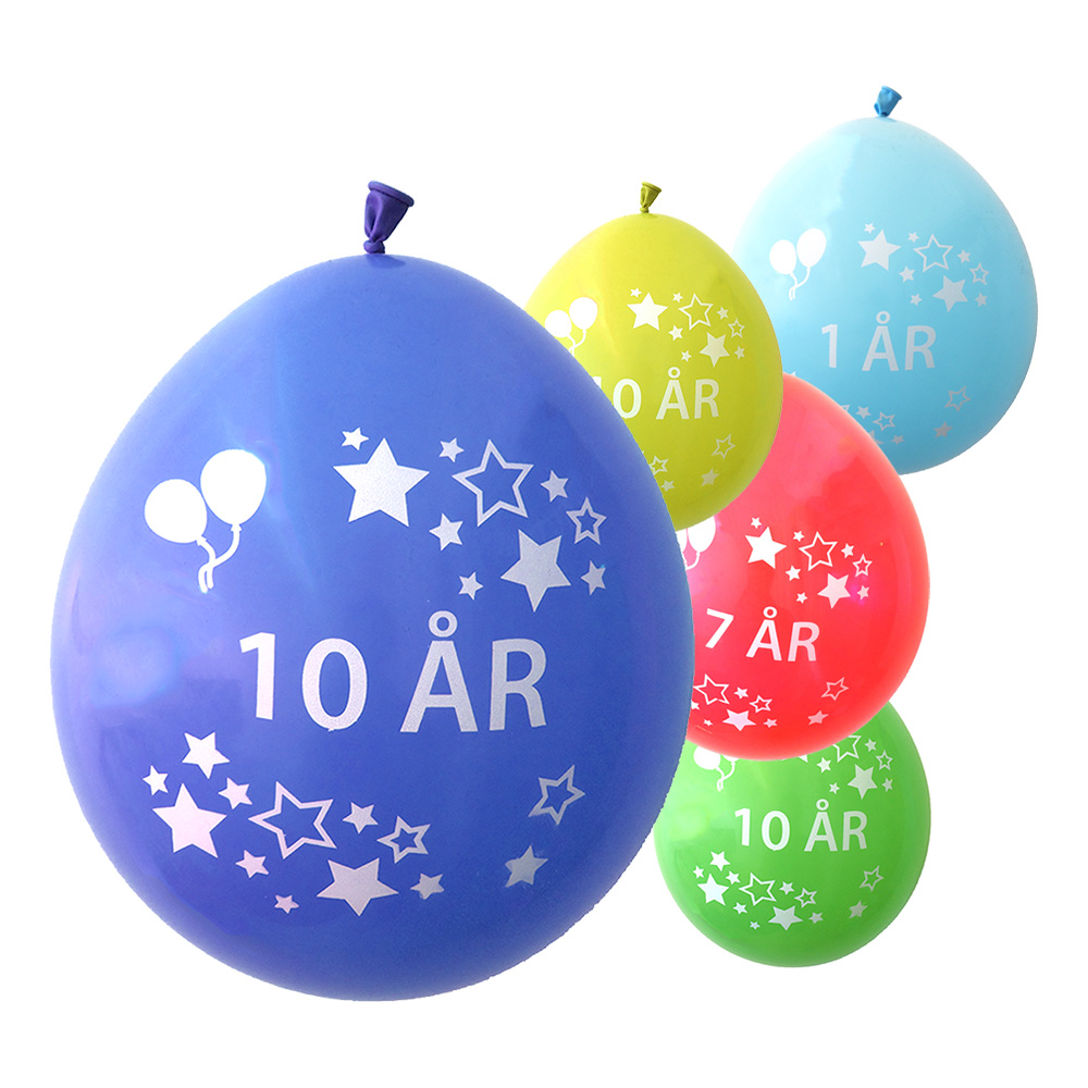 Födelsedagsballonger - 1 ÅR