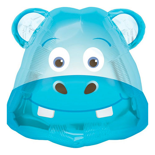 Folieballong Flodhäst