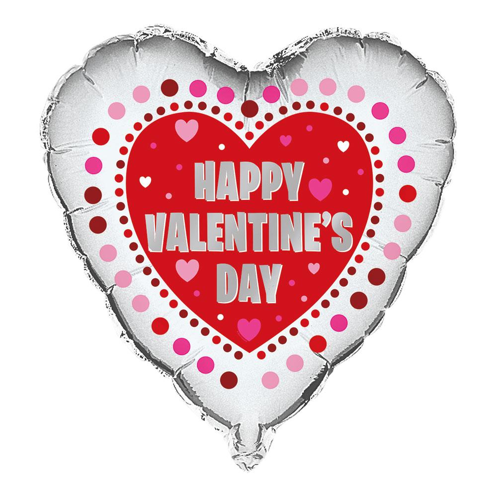 Folieballong Hjärta Happy Valentine's Day