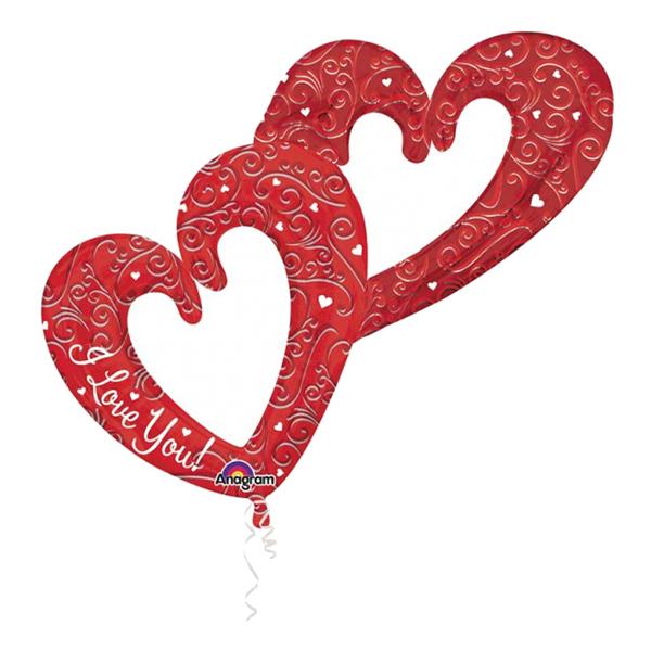 Folieballong Hjärtan