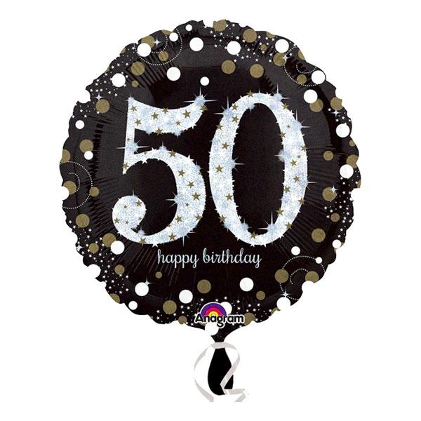 Folieballong Sparkling Birthday 50