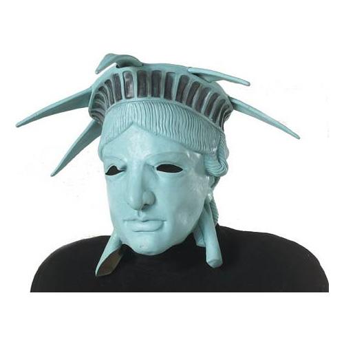 Frihetsgudinnan Latexmask - One size
