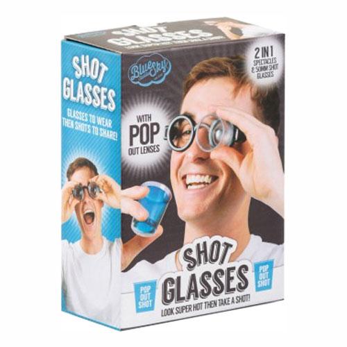 Glasögon med Shotsglas