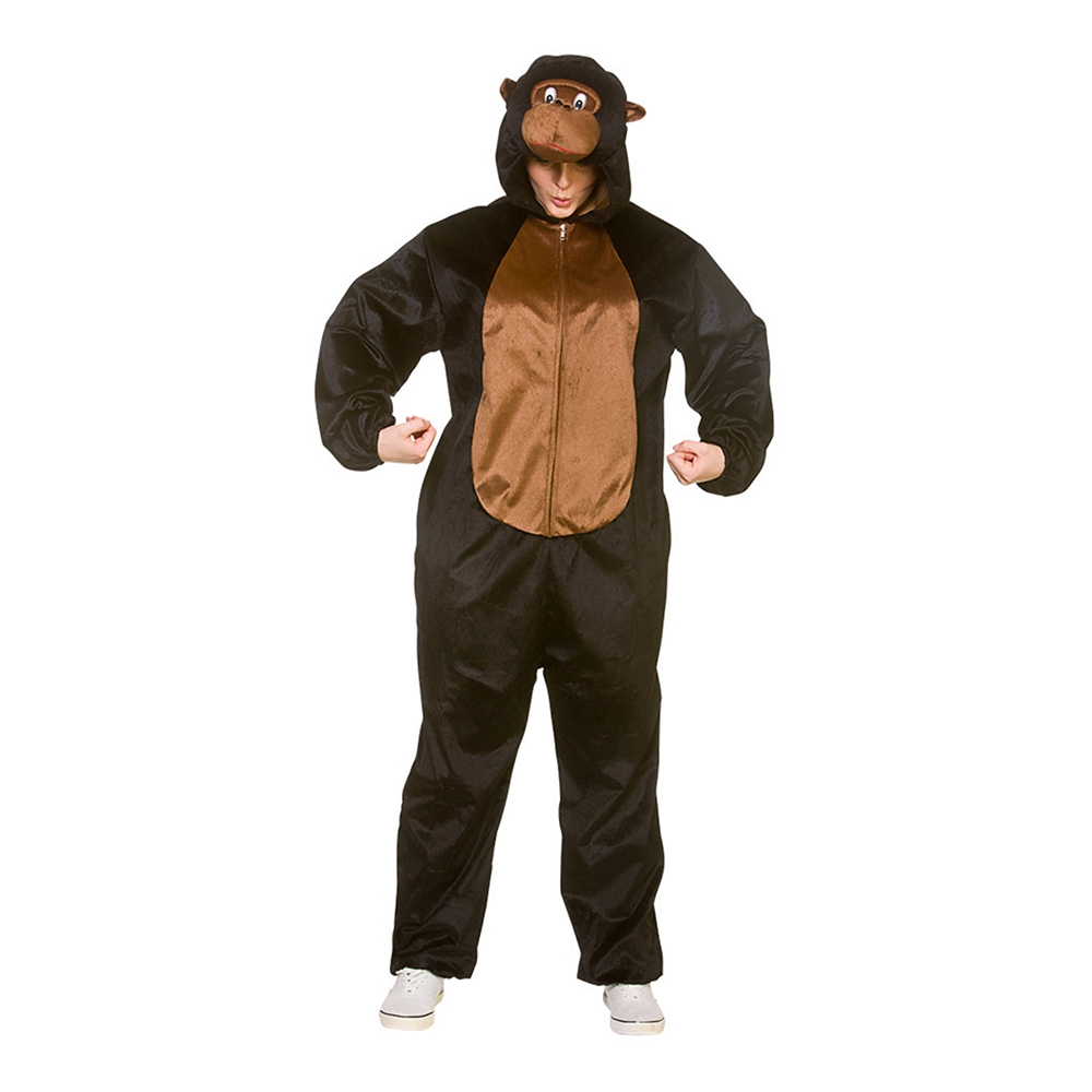 Gorilla Jumpsuit Maskeraddräkt - One size