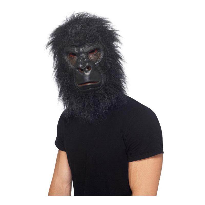 Gorilla Mask med Hår - One size