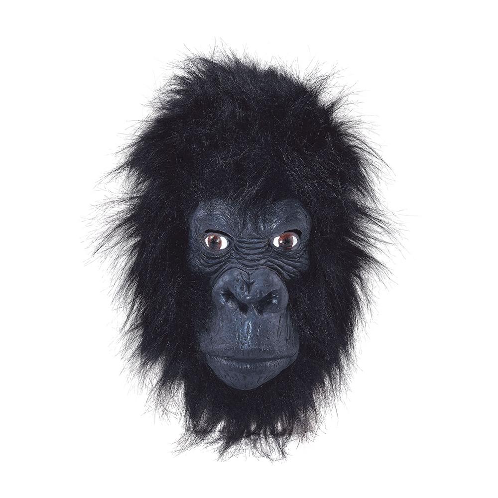 Gorilla Mask Svart - One size