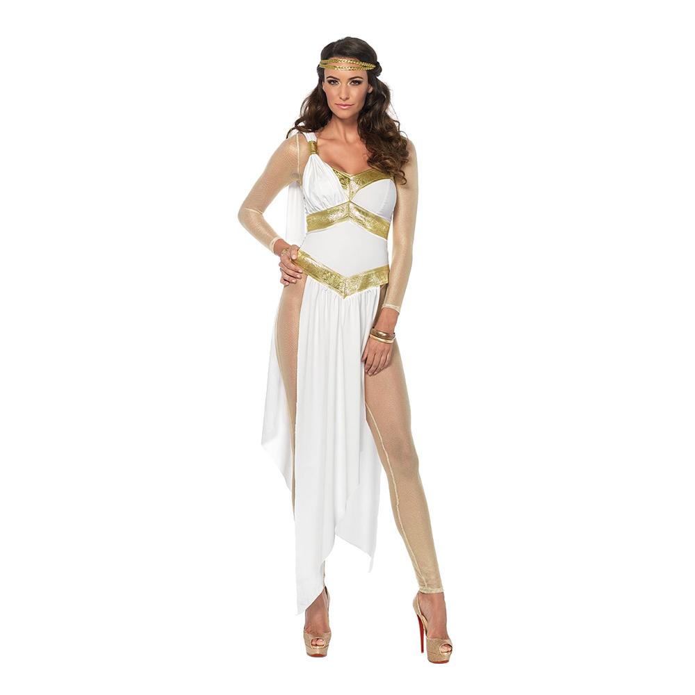 Grekisk Gudinna Deluxe Maskeraddräkt - Small