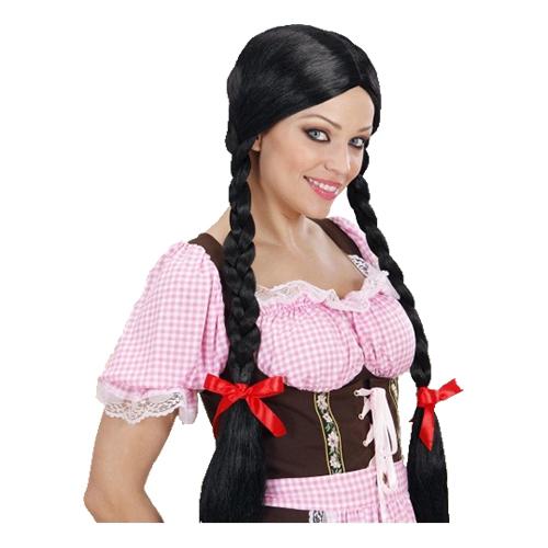 Gretel Svart Peruk - One size