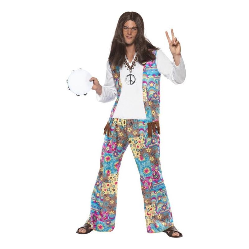 Groovy Hippie Maskeraddräkt - Medium