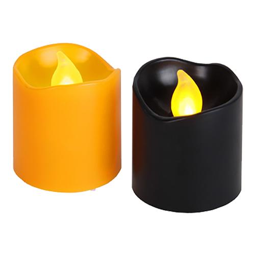 Halloweenljus med LED - Orange/Svart