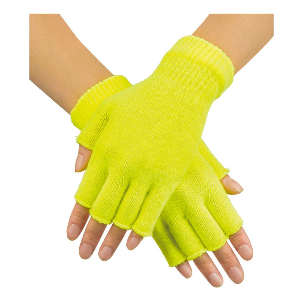 Handskar Fingerlösa Neongula - One size