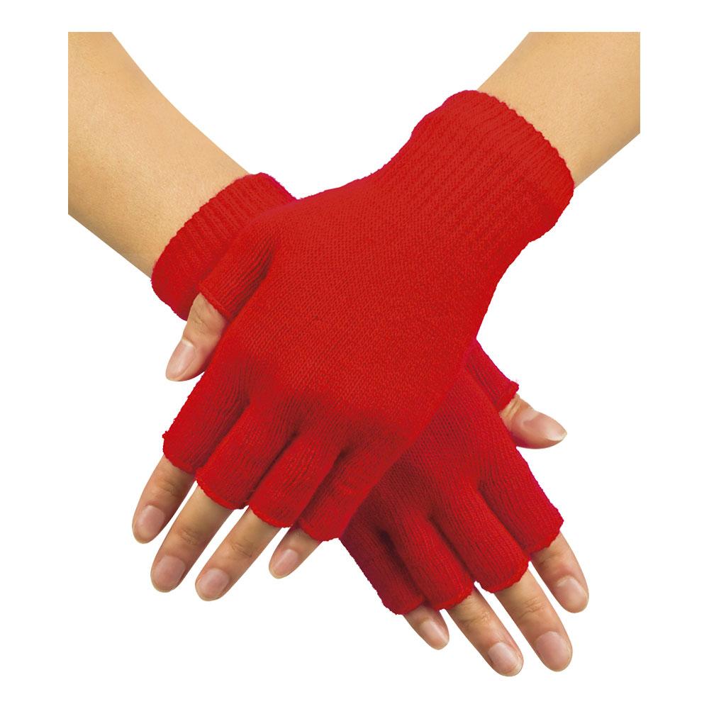 Handskar Fingerlösa Röda - One size