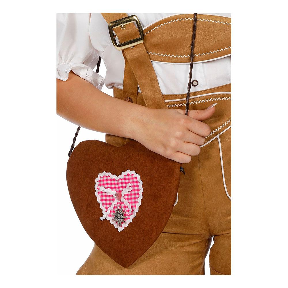 Handväska Tyroler Rosa Hjärta