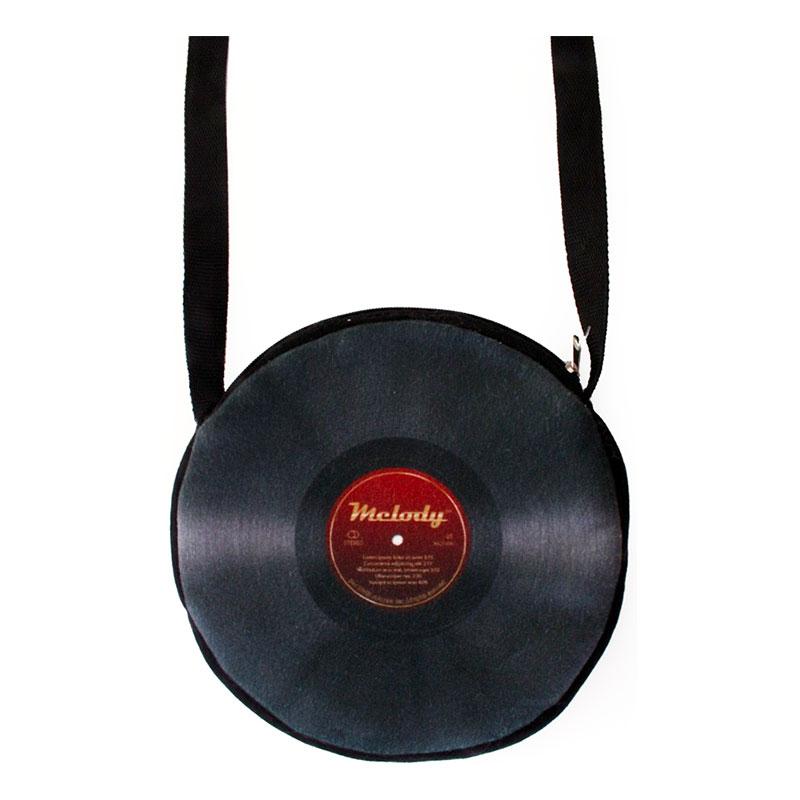 Handväska Vinylskiva