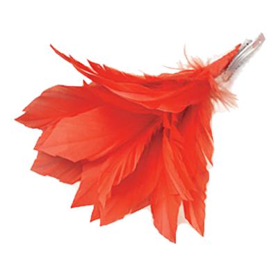 Hårklämma Fjädrar - Röd