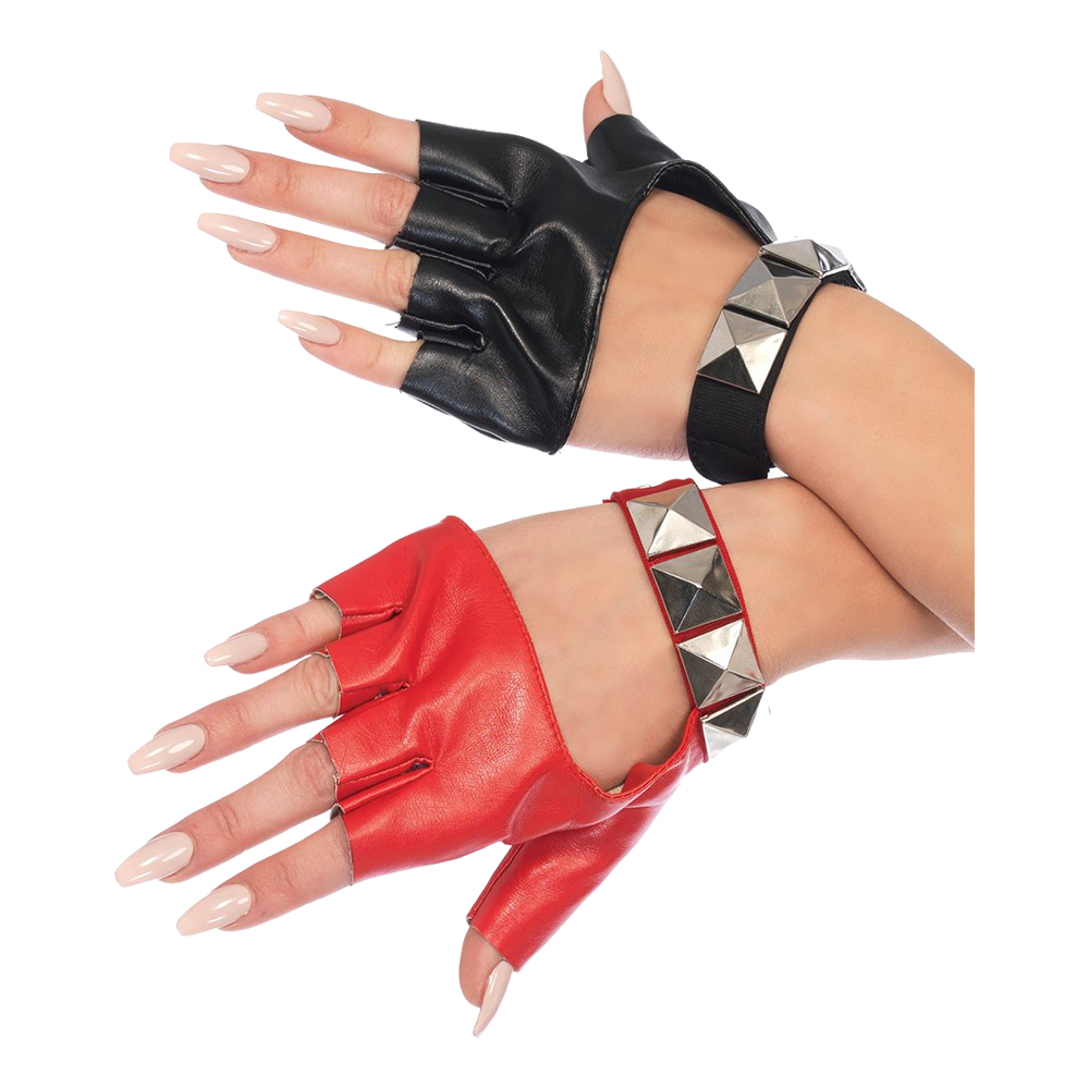 Harlequin Deluxe Handskar med Nitar - One size