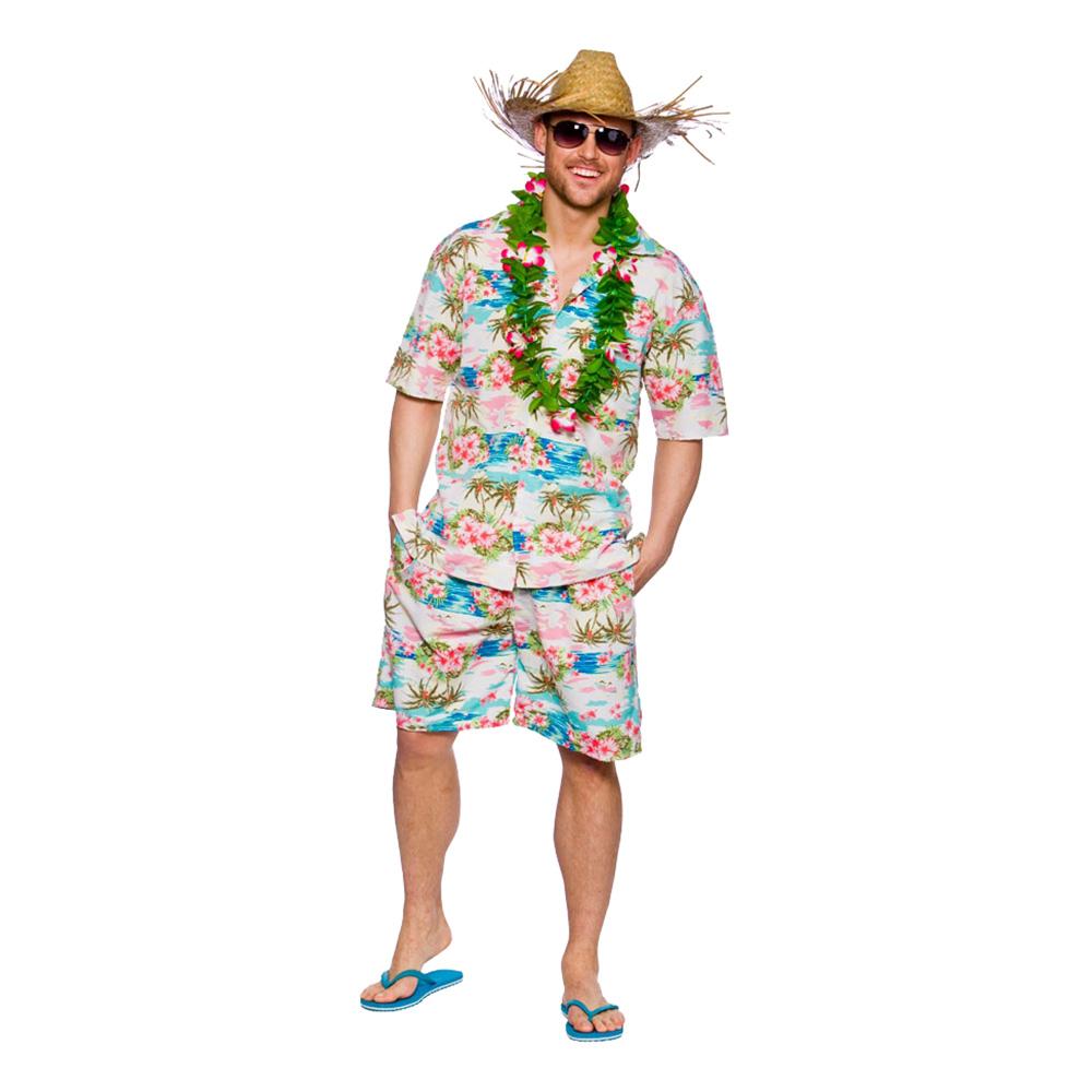 Hawaii Partykille Rosa Maskeraddräkt - Large