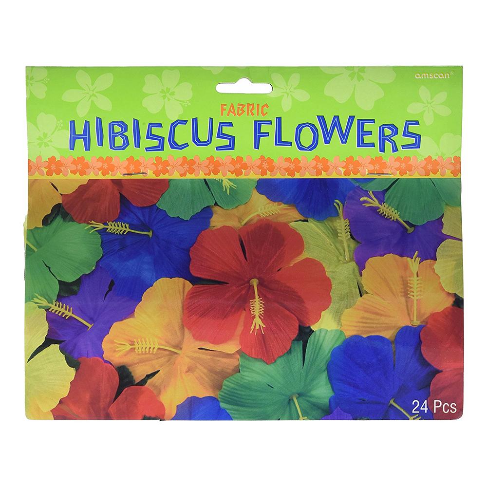 Hibiscus Blommor Hawaiidekoration - 24-Pack
