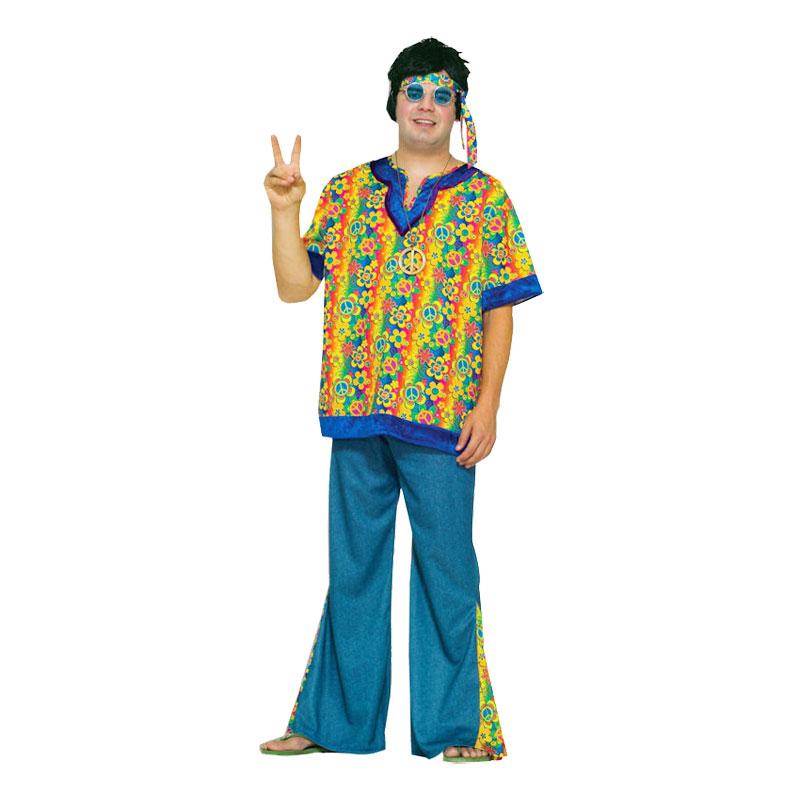 Hippie Dude Plus-size Maskeraddräkt - Utgå