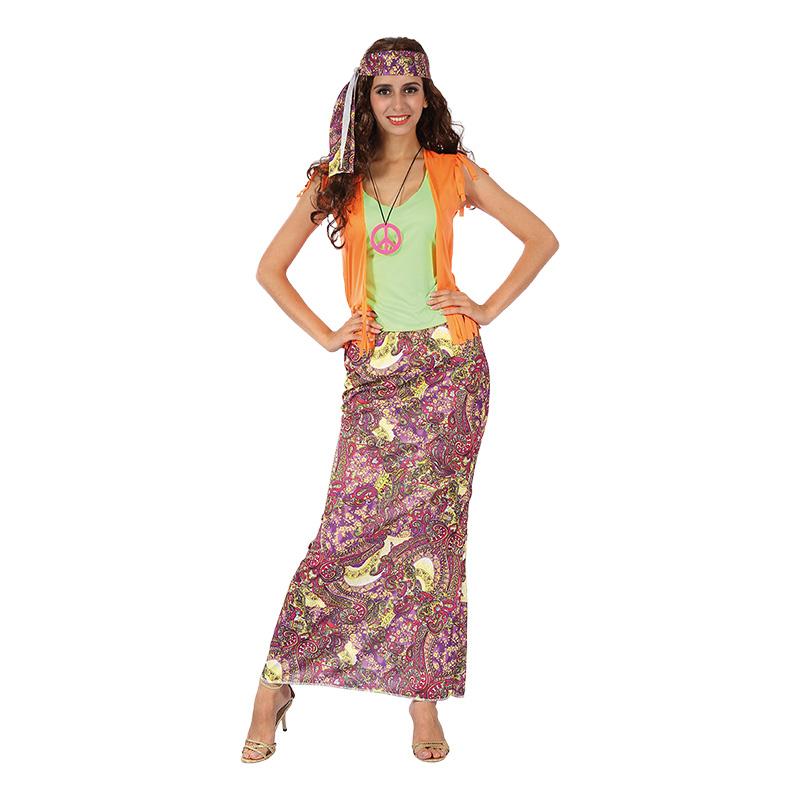 Hippie med Lång Kjol Maskeraddräkt - One size