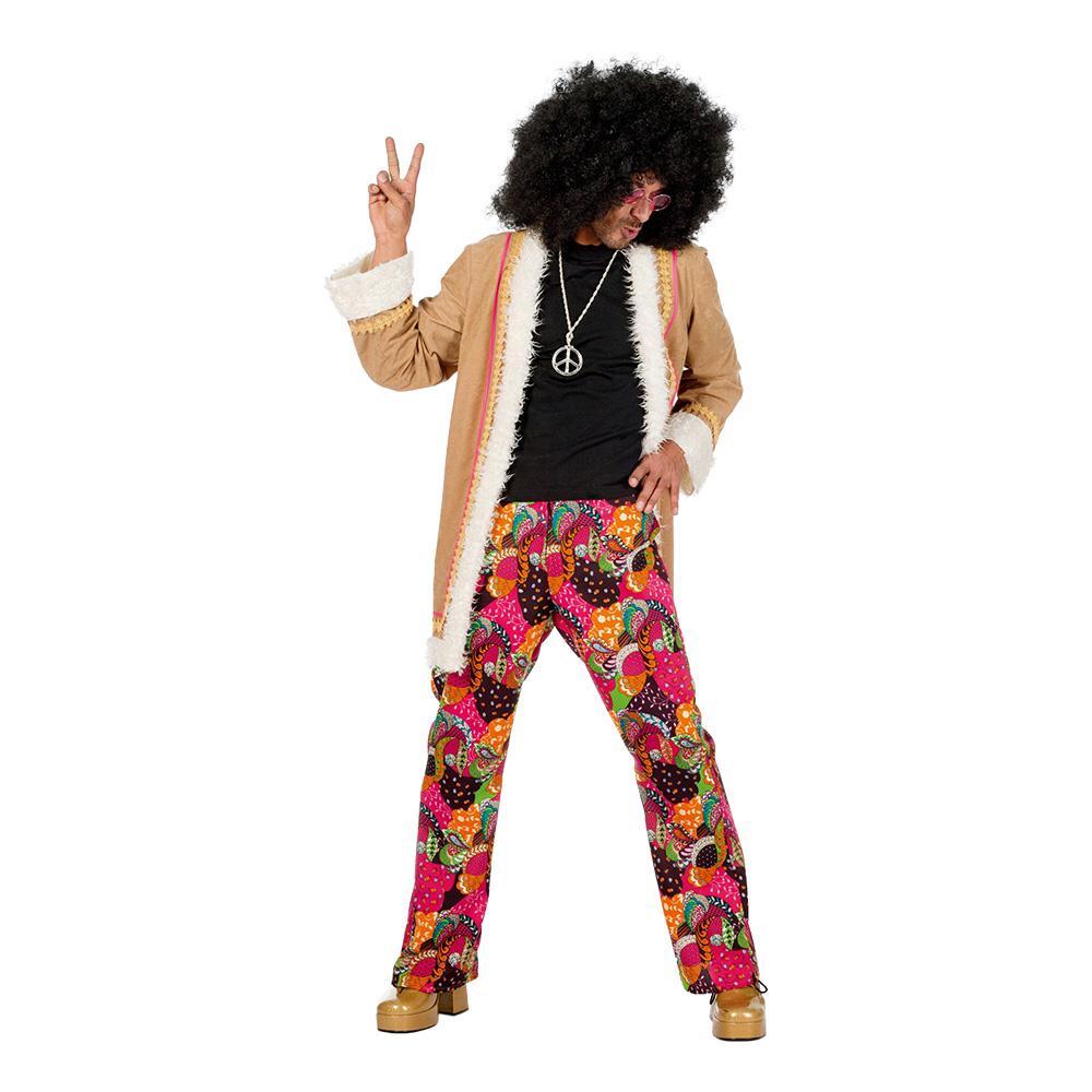 Hippie med Rock Maskeraddräkt - Medium