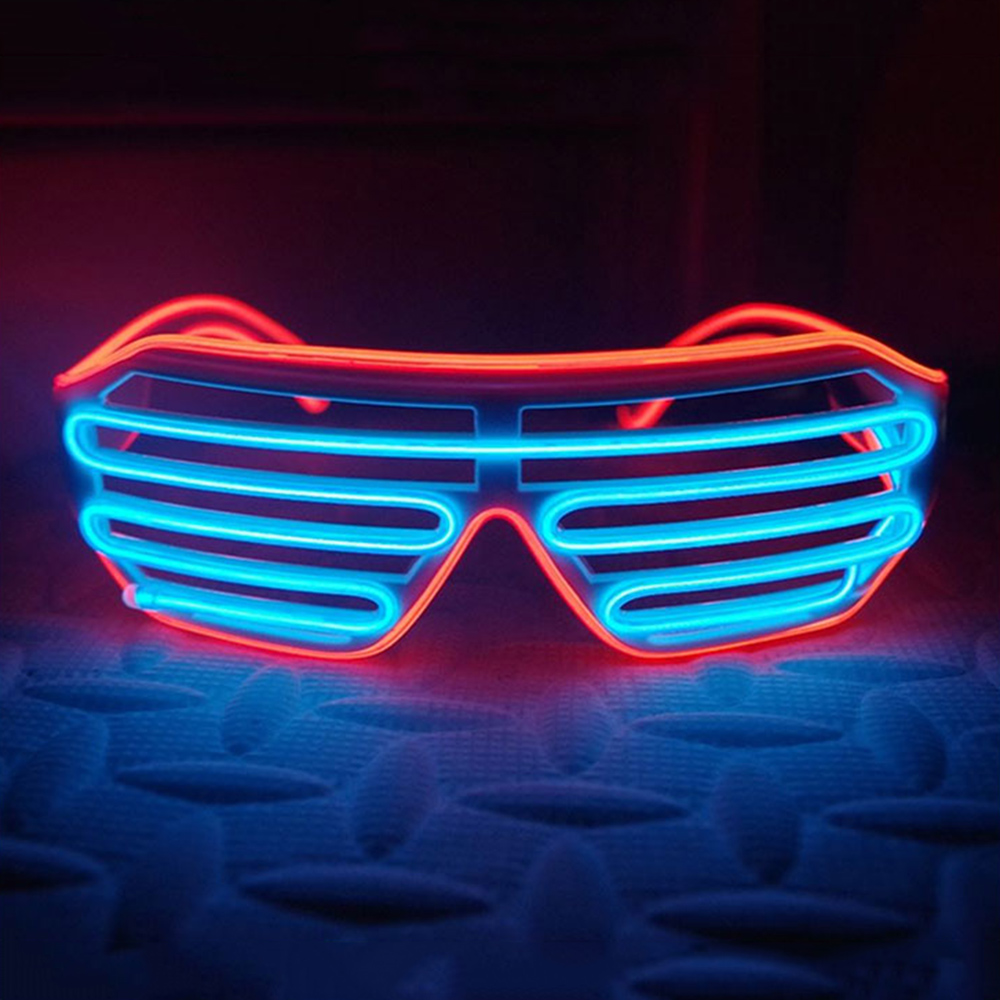 IA LED Partyglasögon - Blå/Röd