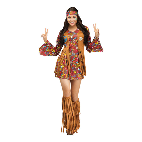Indian Hippie Maskeraddräkt - Small/Medium
