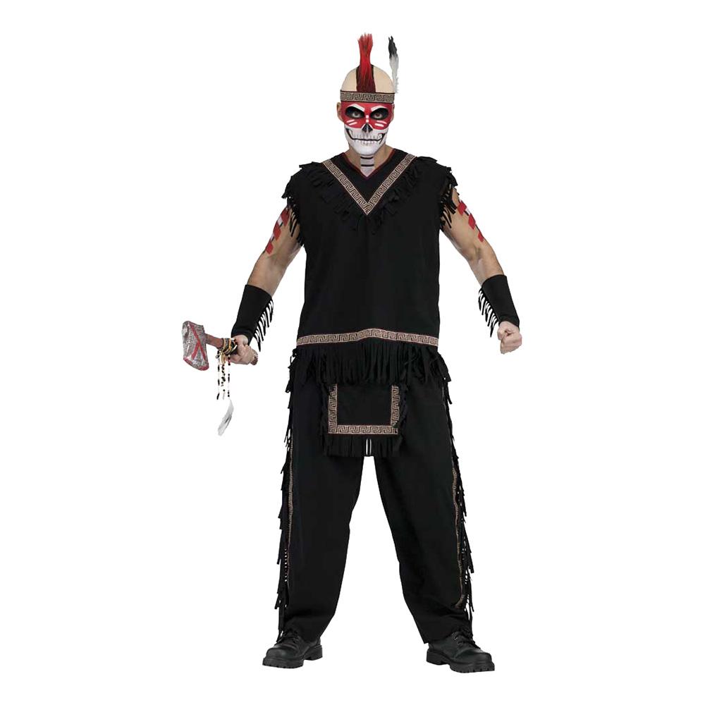 Indiankrigare Svart Maskeraddräkt - One size
