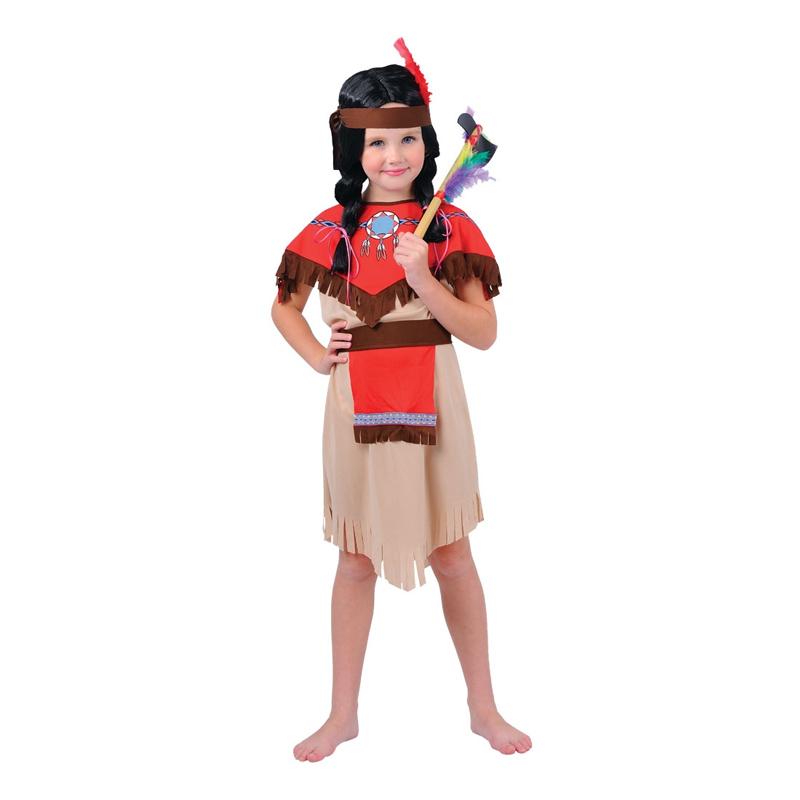 Modig Indianflicka Barn Maskeraddräkt - Medium