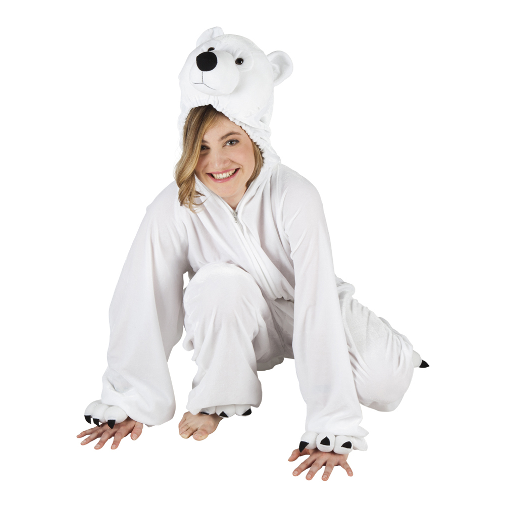 Isbjörn Maskeraddräkt - One size