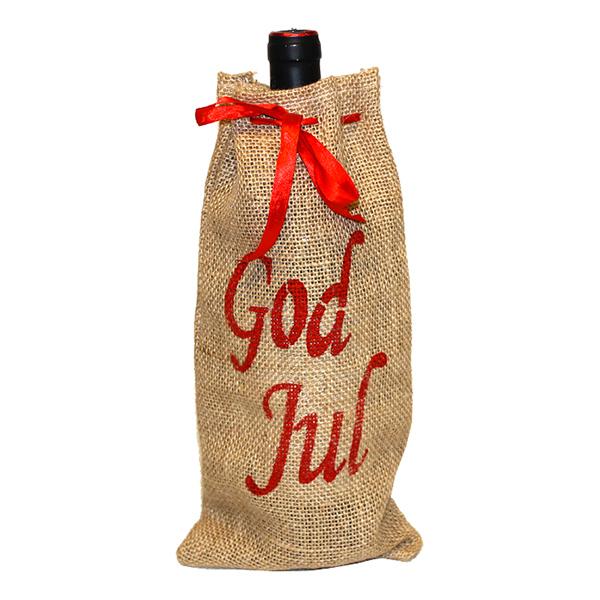 Julsäck för Vinflaska