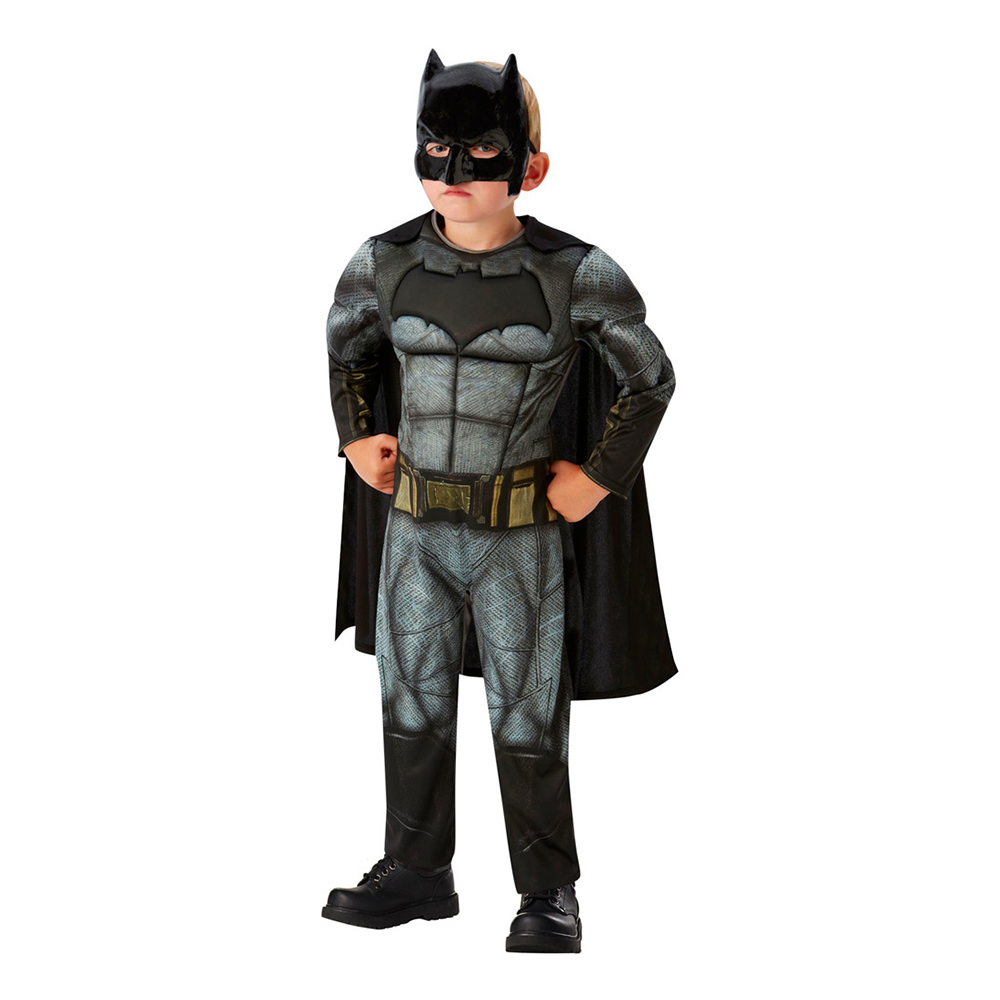 Justice League Batman Deluxe Barn Maskeraddräkt - Medium