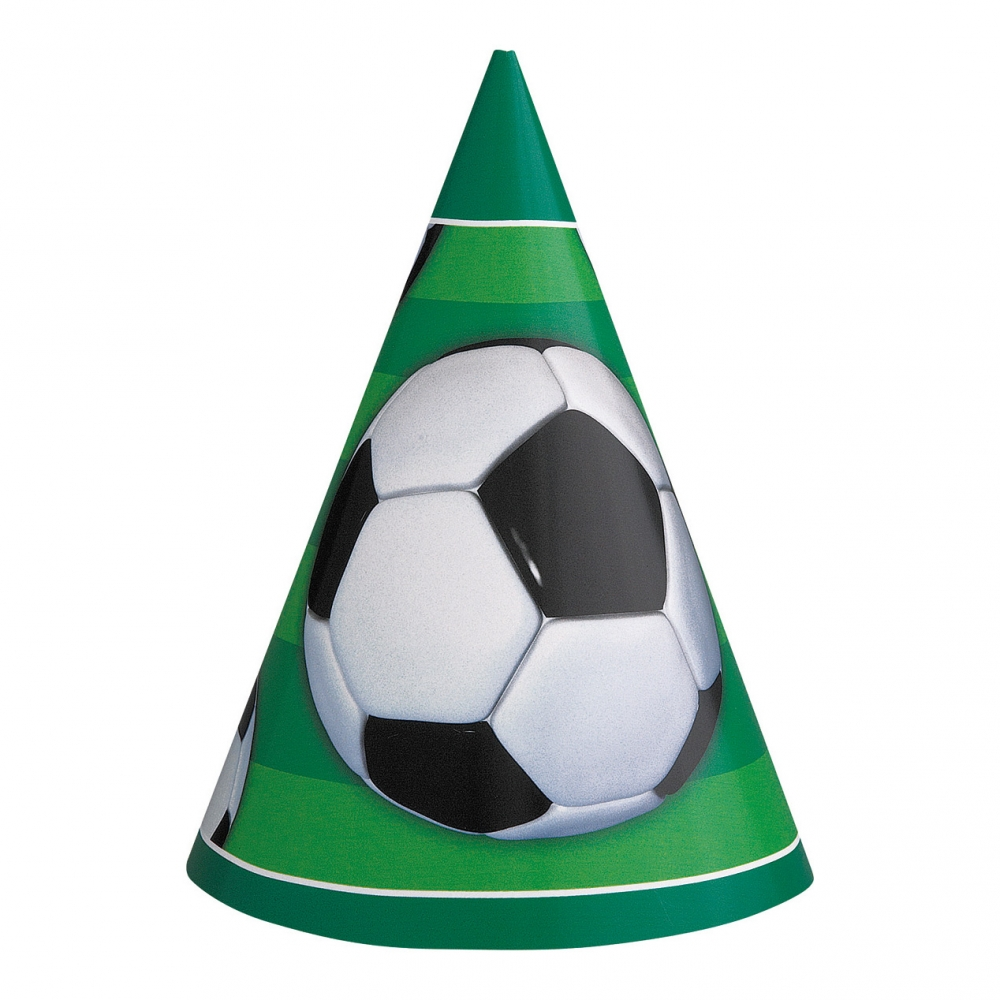 Partyhattar Stor Fotboll - 8-pack