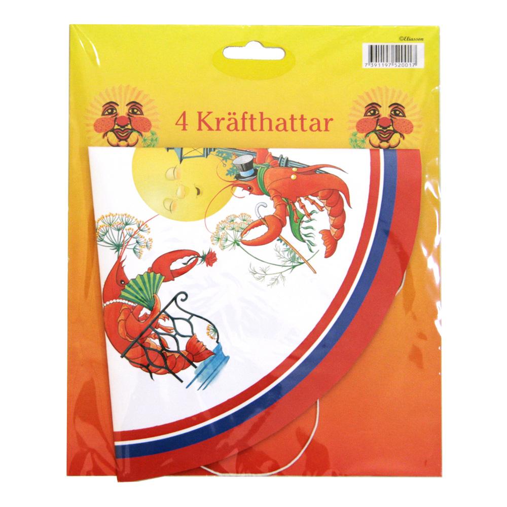 Partyhattar Kräftskiva - 4-pack