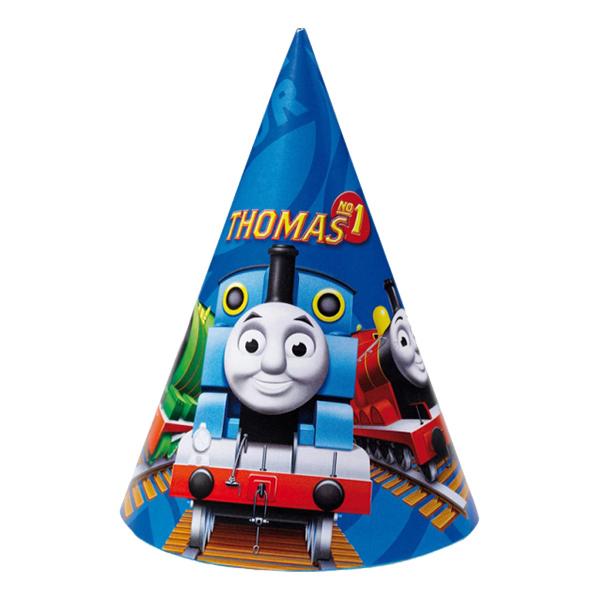 Partyhattar Thomas Tåget - 6-pack